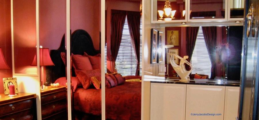 Jerry Jacobs Design Mirrored bedroom
