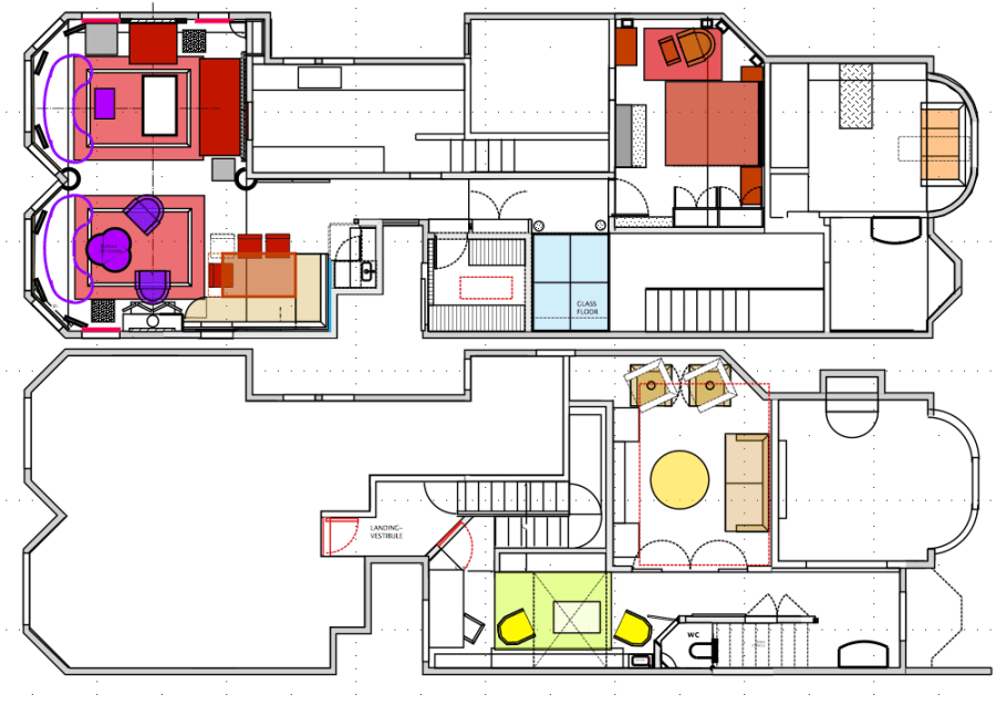Luxury Penthouse design floor plan