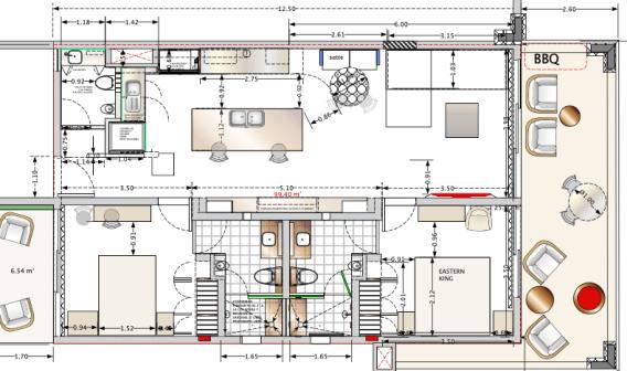 Floor Plan furnished