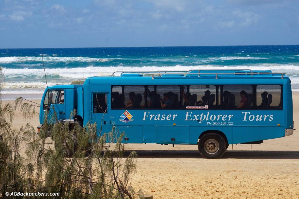Fraser Island Australie Bus de 40 personnes pour un day trip à Fraser Island