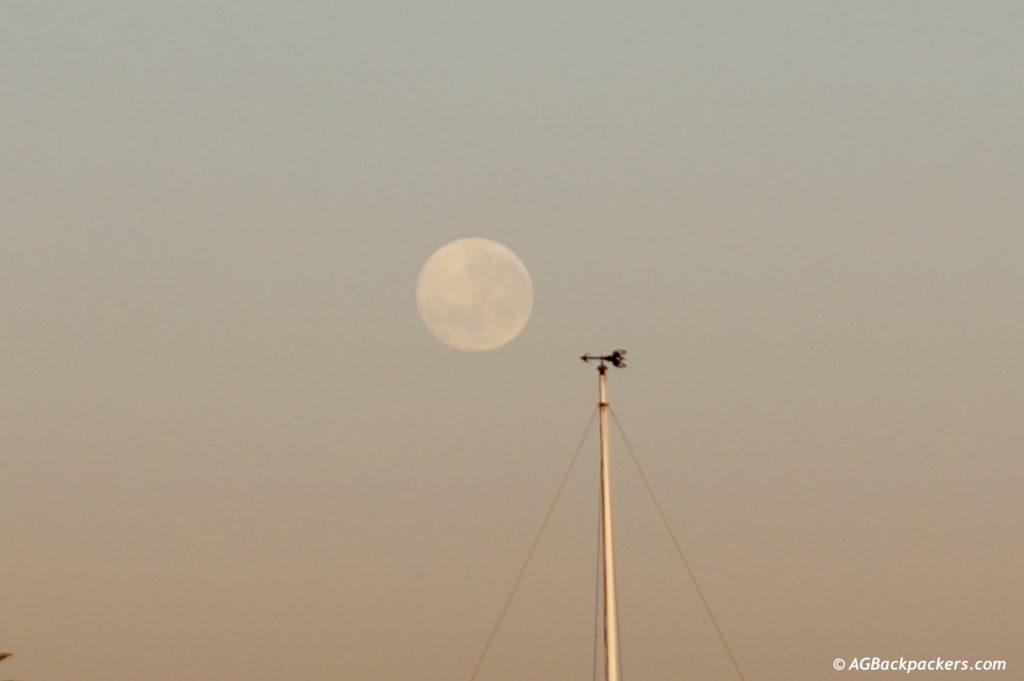 Full moon au réveil à South West Rock