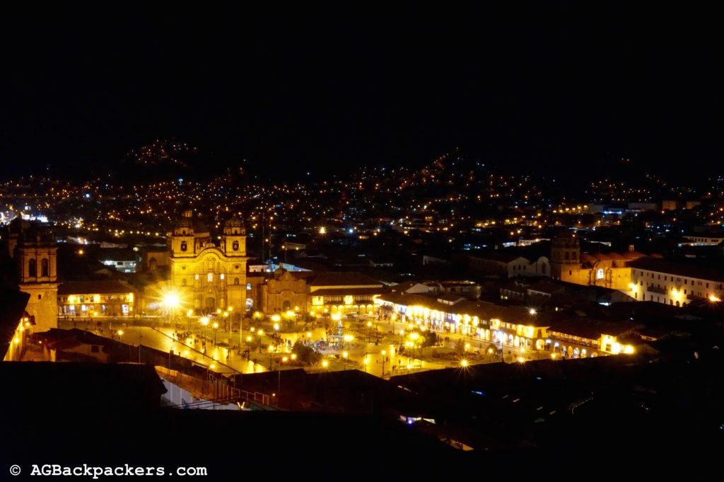 CUSCO Perou Vue de jour imprenable sur la plaza de Armas depuis Albergue Municipal