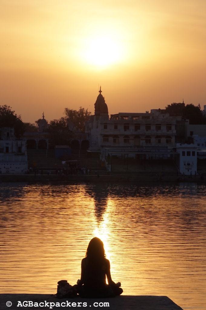 Méditation à Pushkar Inde