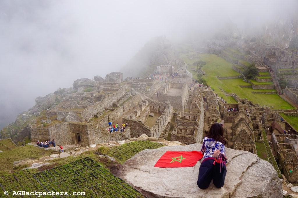 Machu Picchu - Pérou Drapeau Marocain