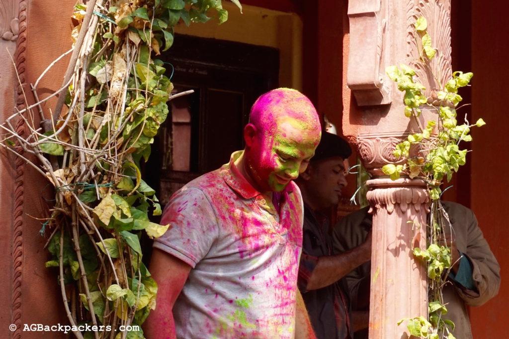 Holi Colors Bikaner Inde Amine en couleurs au bout de quelques minutes