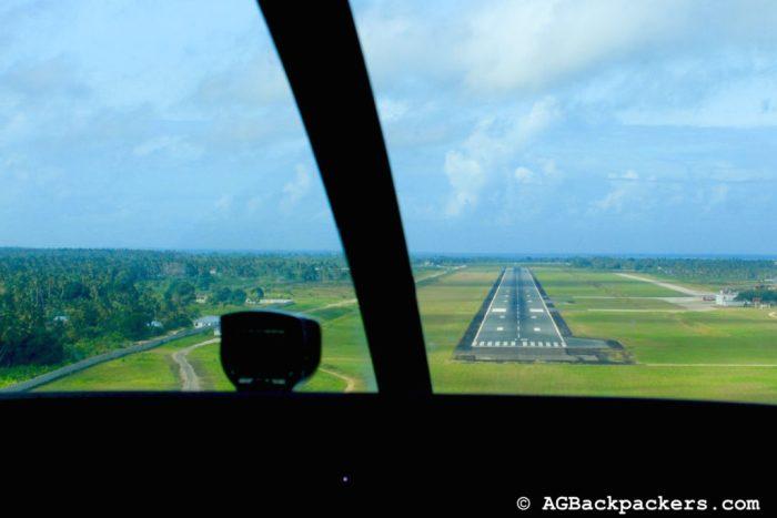 Landing in Zanzibar from Dar Essalam Tanzania