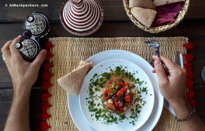 Salade marocaine faite maison chez Koheilan Lodge Farm