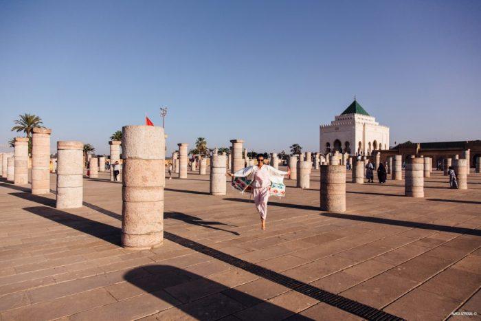 Esplanade du mausolée et de la tour Hassan à Rabat