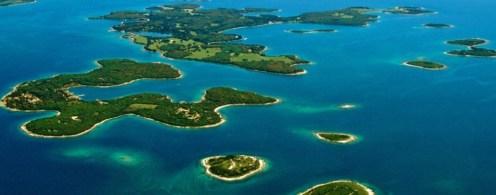 Croatie vue du ciel