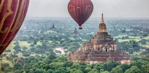 Survol de Bagan en montgolfiere Birmanie