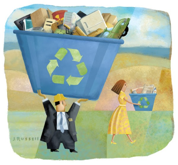 Fairness in Recycling