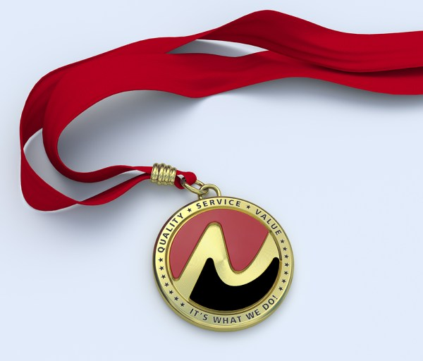 Quality Service Value medal
