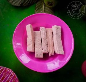 Snack típicos de la isla Papua .