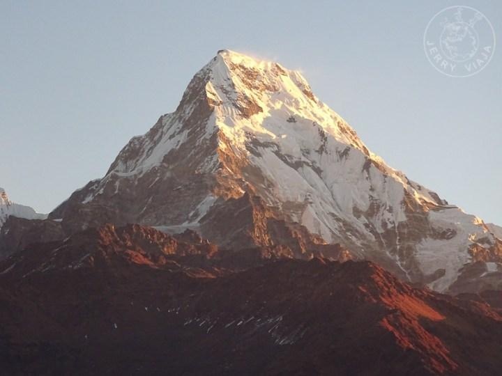 Cima del Poon Hill en Ghorepani, Circuito de Annapurna, Nepal