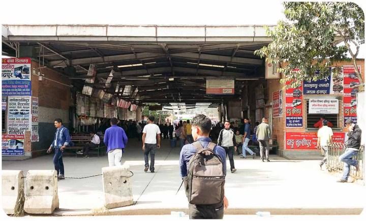 Terminal Gongabu en Katmandu, buses a besisahar y bhulbule, Nepal