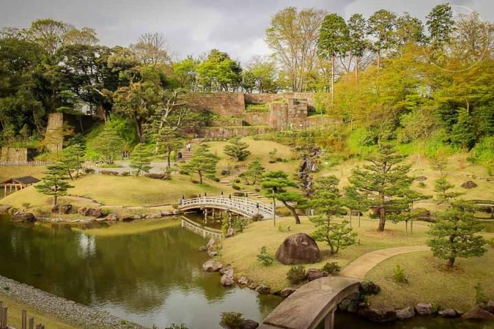 Jardín Gyokuseninmaru, Kanazawa, Japon