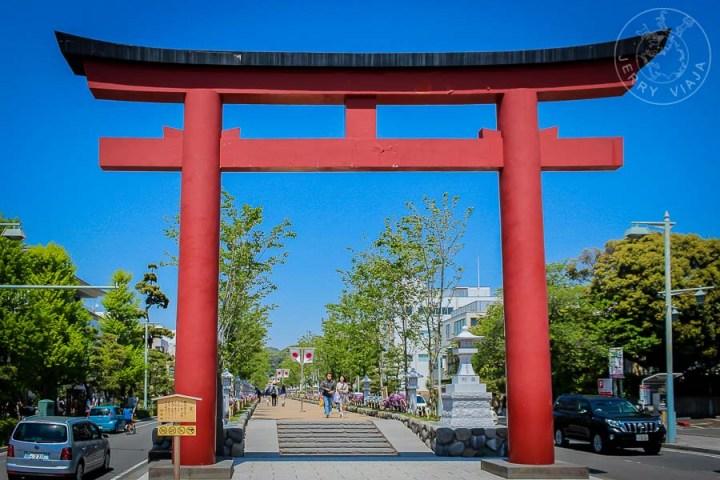 Santuario Tsurugaoka Hachimangu, avenida, Kamakura, Japón