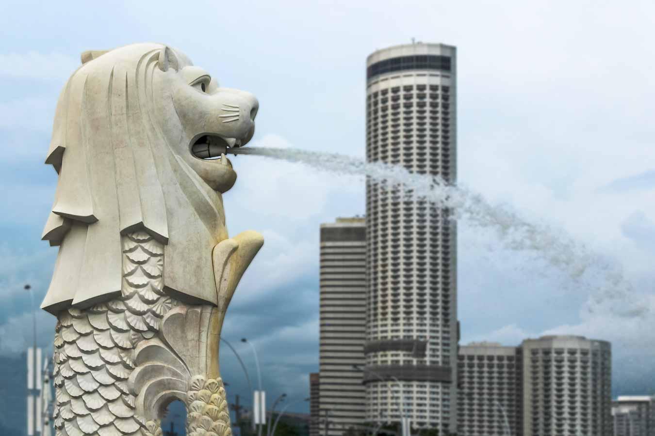 Merlión, la estatua representativa de Singapur