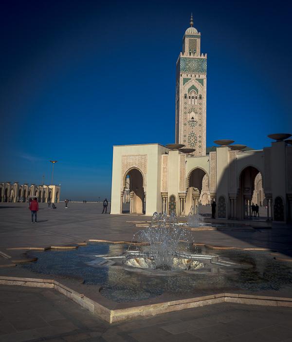 Minarete de la Mezquita de Hasan II, Casablanca, Marruecos