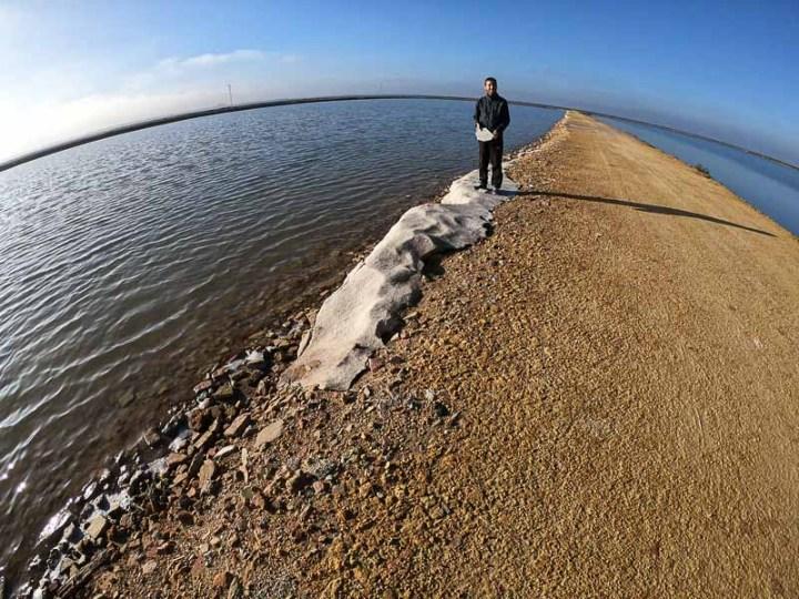 Bloque de sal en las Salinas de Mazagón. Parque Nacional de Doñana, Andalucia, España
