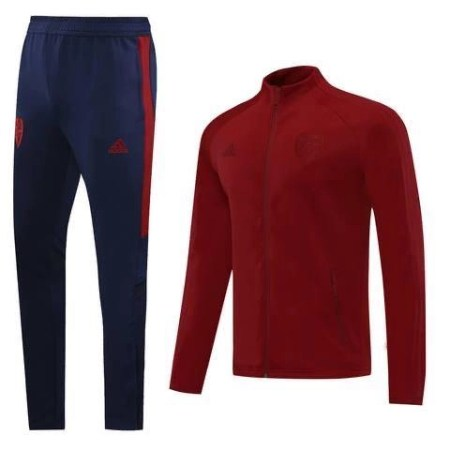 20/21 Arsenal All-Red Tracksuit - Jersey Loco