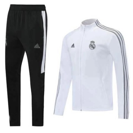 20/21 Real Madrid White Tracksuit - Jersey Loco