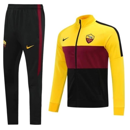 20/21 Roma Yellow/Red Tracksuit - Jersey Loco