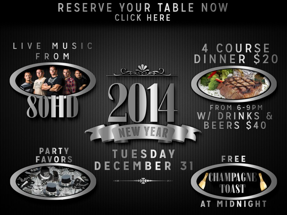 New Years Eve Dinner, Drinks & Live Music