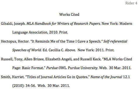 History Research Paper Citation