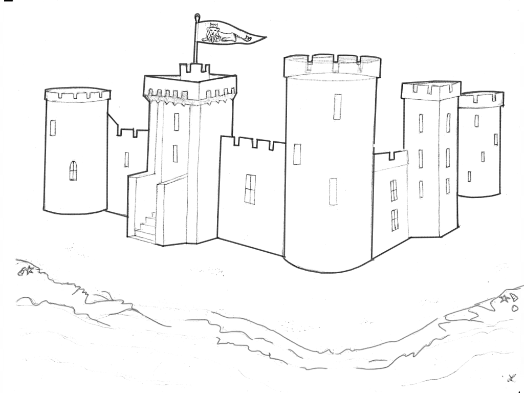 Cair Paravel, where the four children rule as Kings and Queens of Narnia.