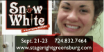 Elly Noble -- Snow White The Musical -- Sep 21-23 -- Stage Right Greensburg