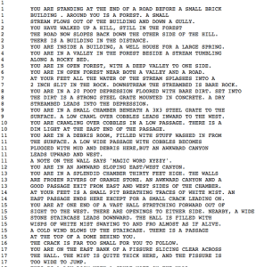 Colossal Cave Adventure Source Code (data file)