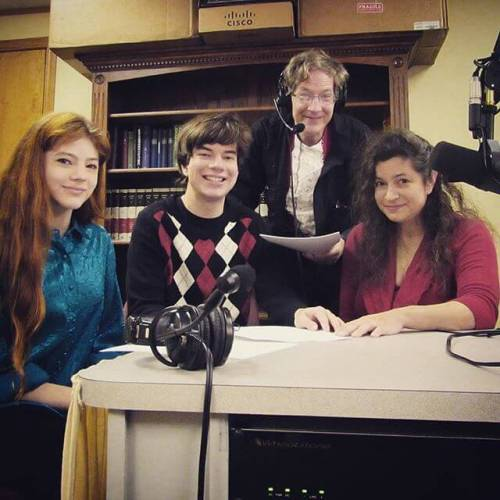 Recording Christmas Stories for WAOB Audio Theatre