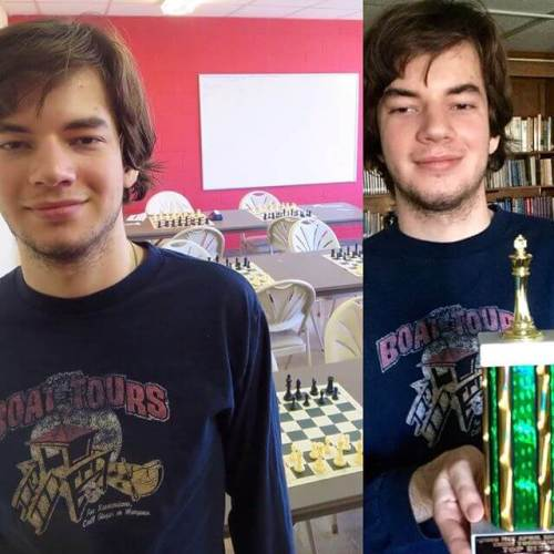 Chess tournament in Monroeville. Two losses, two wins (his personal best on that count).