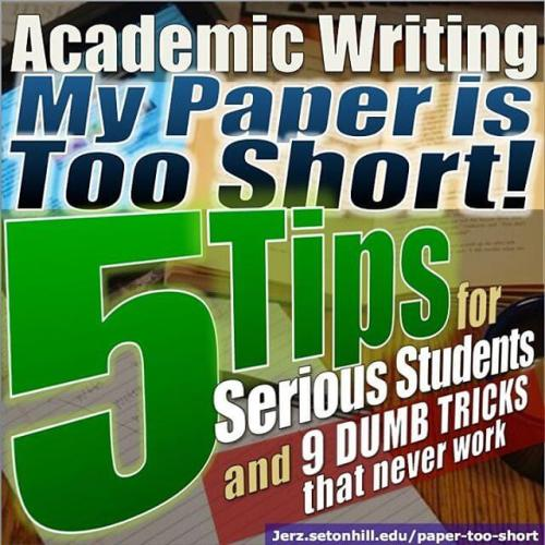 Paper too short? Here are actual tips for serious students, not dumb tricks your prof will notice.