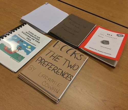 "Chapbooks — the latest assignment in my ""History and Future of the Book"" class."