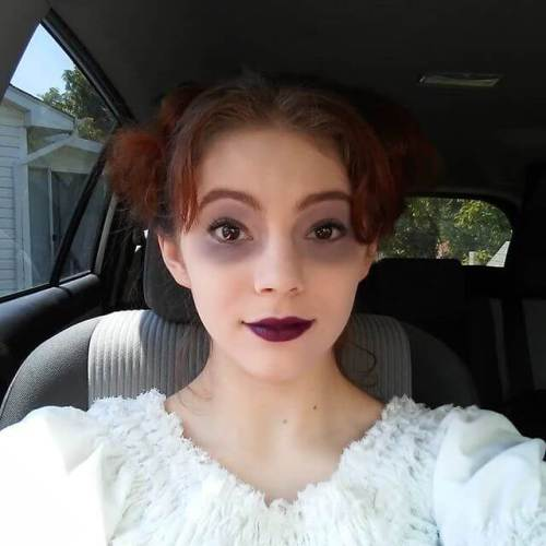 On the way to the theater for the show! Mrs Lovett in Sweeney Todd.