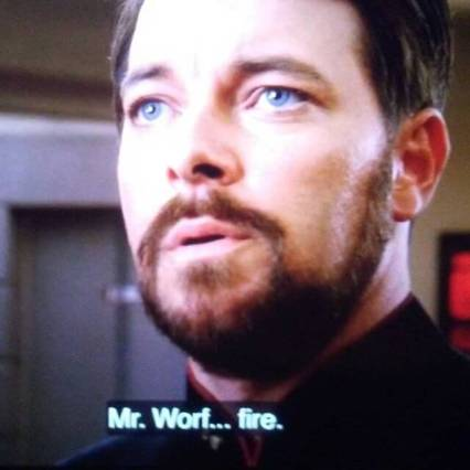 Cliffhanger from ST:TNG Best of Both Worlds. I haven't made time to watch TNG in probably 20 years. Holds up surprisingly well.