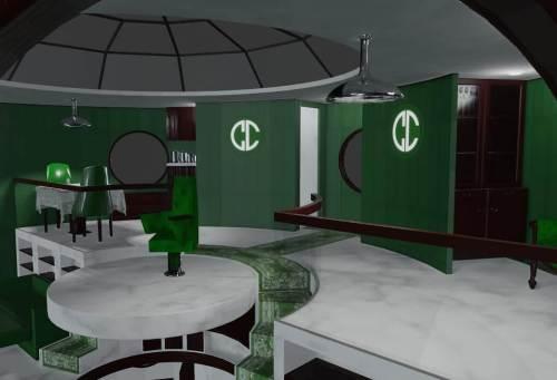 Updating a villain's lair in #Blender3D. Still a work in progress.