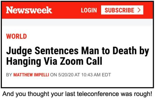 And you thought your last teleconference was rough!