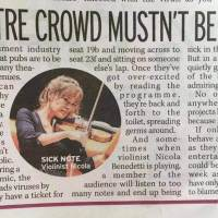 Theatre Crowd Mustn't Be Bitter