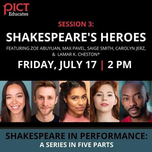 Pict Free Summer Webinar: Shakespeare's Heroes
