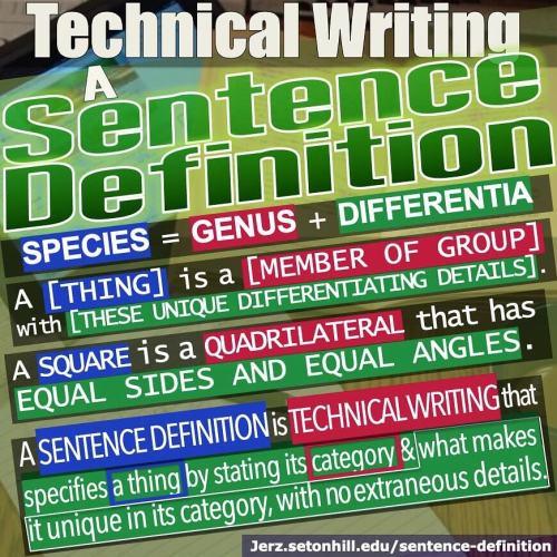 Sentence Definition: Species = Genus + Differentia
