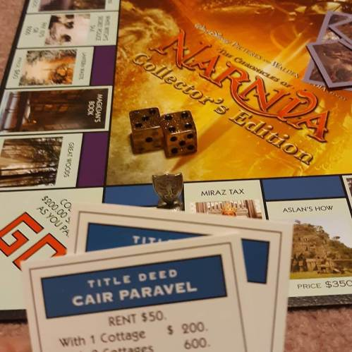 I just picked up both Aslan's How and Cair Paravel. #narnia #monopoly