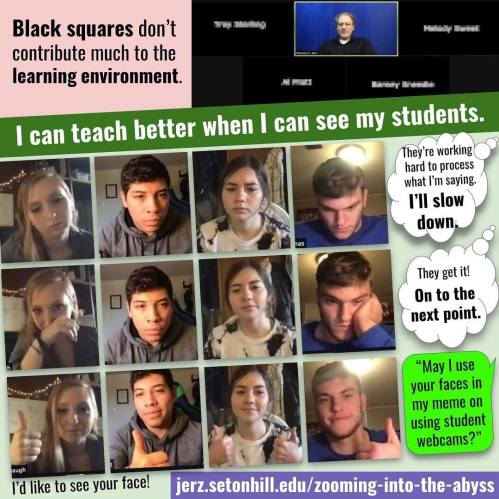 Zooming into the abyss: Black squares don't contribute much to the learning environment.