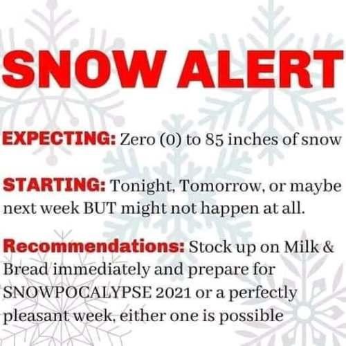 The only snow alert you'll ever need.