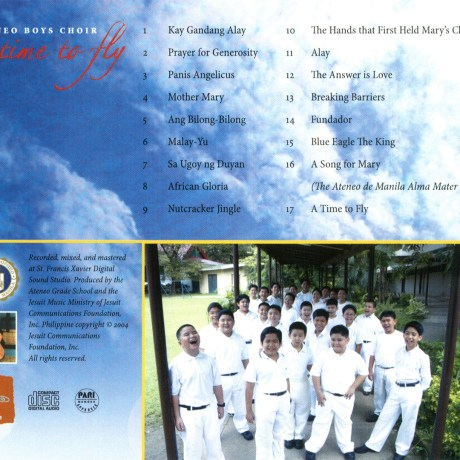 A Time to Fly CD Cover Back (1)