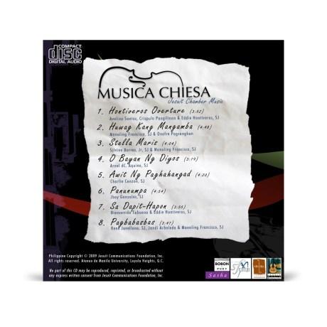 Musica Chiesa Album Back