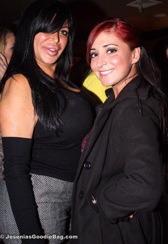 Big Ang (Mob Wives) with Angelina (MTV: Jersey Shore)