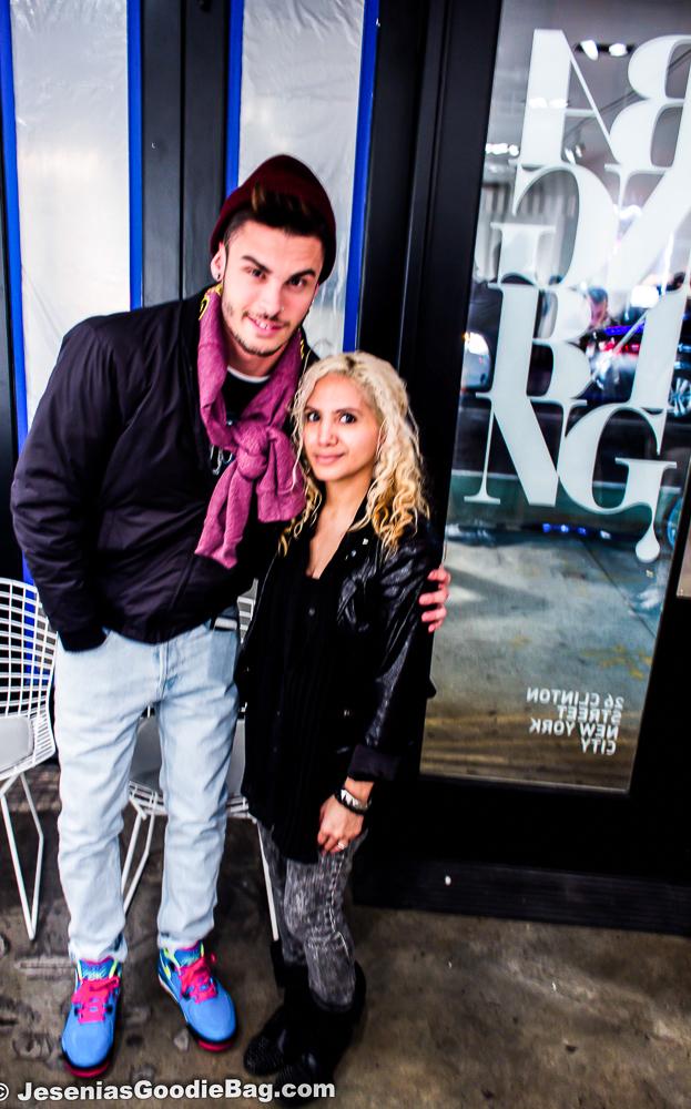 Jesenia (JGB Editor) with Baptiste Giabiconi (Chanel muse)